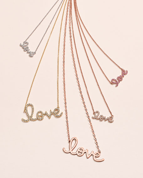 Two-Tone Diamond Love Necklace