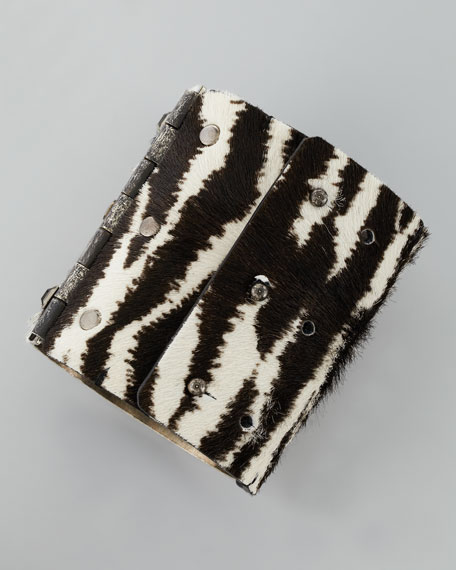 White Tiger-Print Cuff