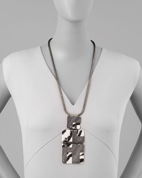 Square-Shell-Pendant Necklace