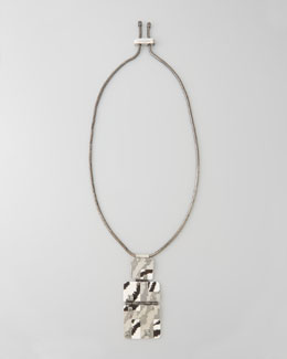 Lanvin Square-Shell-Pendant Necklace
