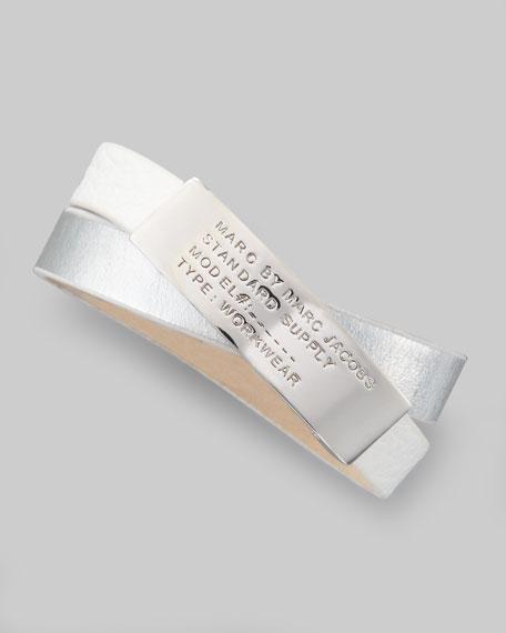 Double-Wrap Standard Supply Bracelet, White