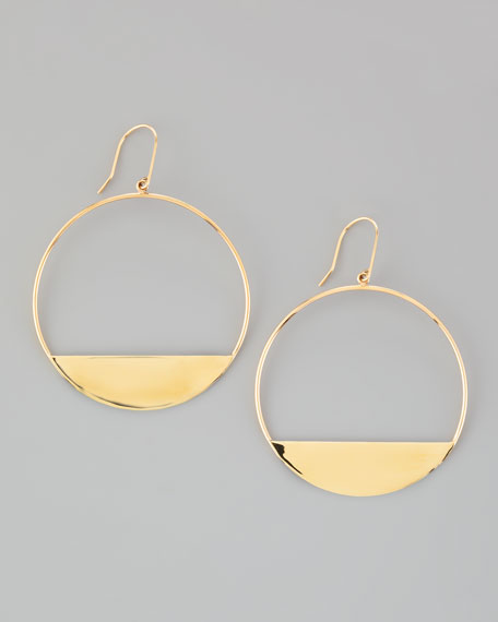 Medium 14k Gold Eclipse Earrings