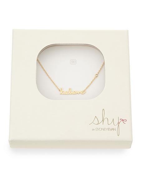 Believe Pendant Bezel Diamond Necklace