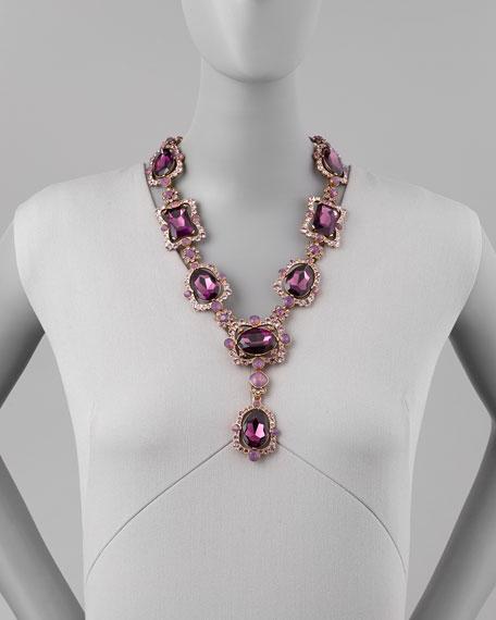 Oscar de la Renta Chandelier Crystal Necklace