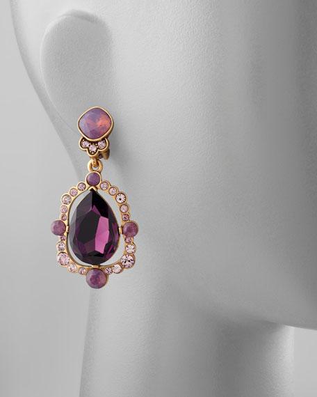 Chandelier Crystal Earrings, Aubergine