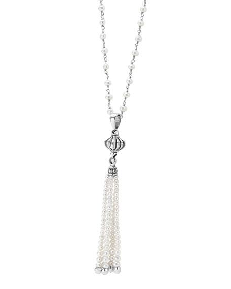 Luna Pearl-Tassel Necklace