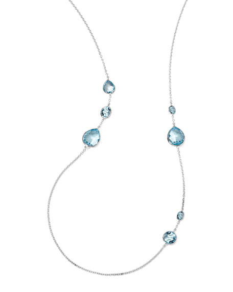 Rock Candy Gelato Necklace, Blue Topaz