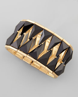 Nico New York Hourglass Stretch Bracelet, Black