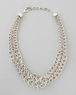 Nico New York Chainmail Tube Necklace, Silver
