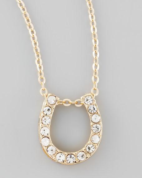 Crystal Horseshoe Pendant Necklace