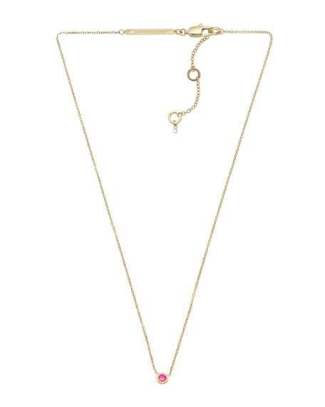 Small Pendant Necklace, Fuchsia