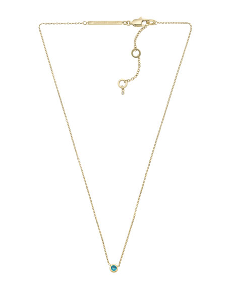 Small Pendant Necklace, Indicolite