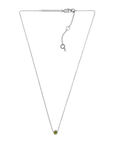 Small Pendant Necklace, Silver Color