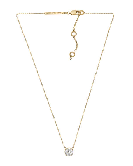 Medium Pendant Necklace, Golden