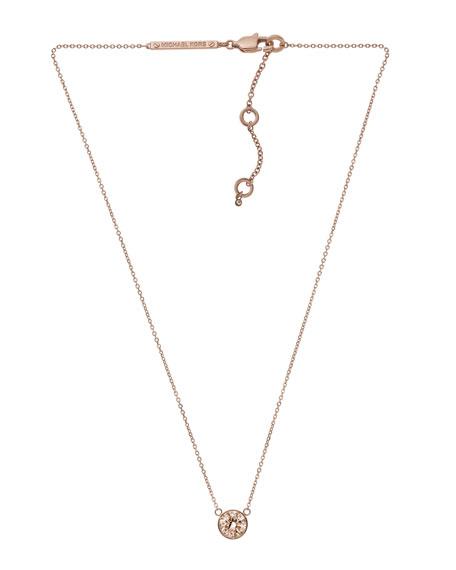 Medium Pendant Necklace, Rose Golden