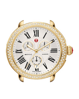 MICHELE Serein Diamond Yellow Golden Watch Head