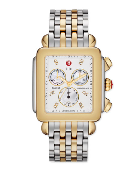 Deco XL Two-Tone Chronograph Watch Head