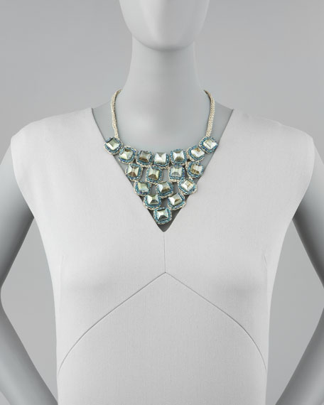 Beaded Triangle Bib Necklace