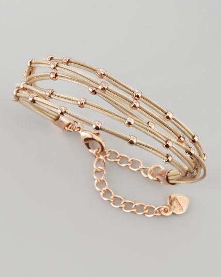 Multi-Strand Ball Bead Bracelet, Tan