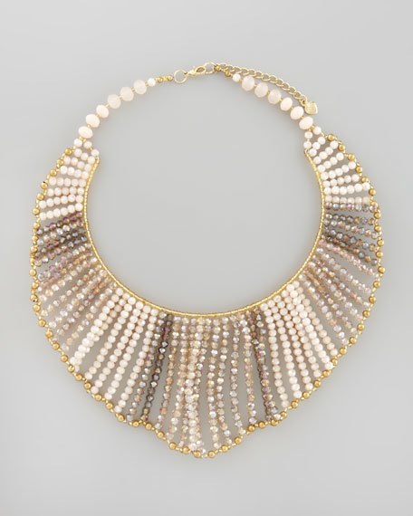 Multi-Bead Bib Necklace