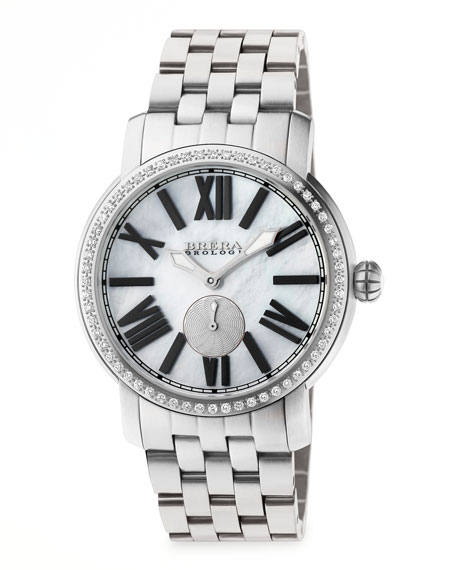 Valentina II Diamond Stainless Steel Watch Head, 42mm
