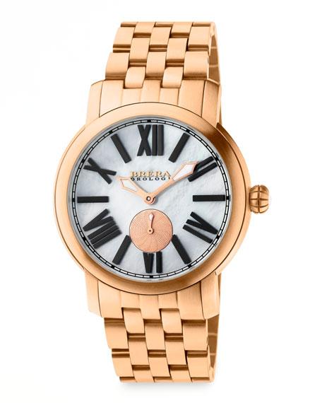 Valentina II Rose Golden Watch Head, 42mm