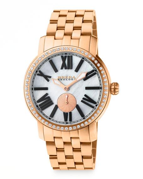 Valentina II Diamond Rose Golden Watch Head, 42mm