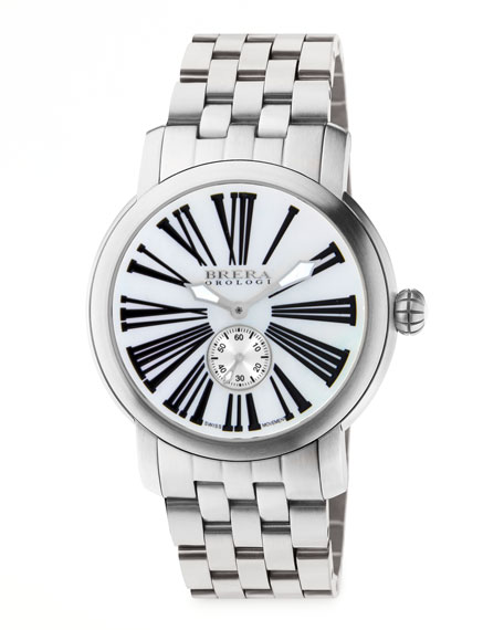 Valentina III Stainless Steel Watch Head, 42mm