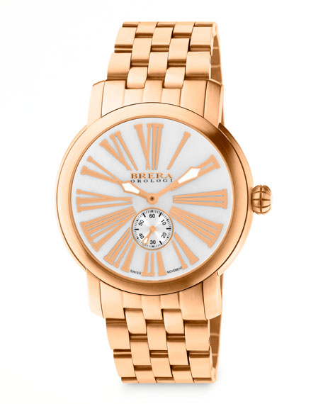 Valentina III Rose Golden Watch Head, 42mm