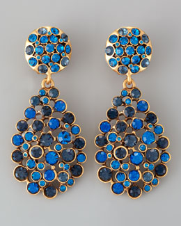 Oscar de la Renta Multi-Stone Teardrop Earrings, Cobalt