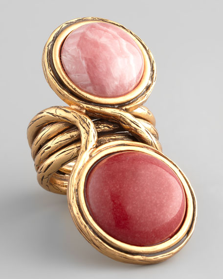 Two-Cabochon Ring, Melon