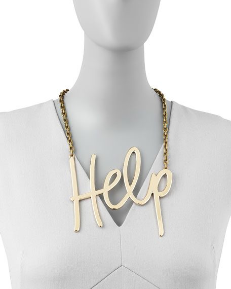 Golden Help Necklace