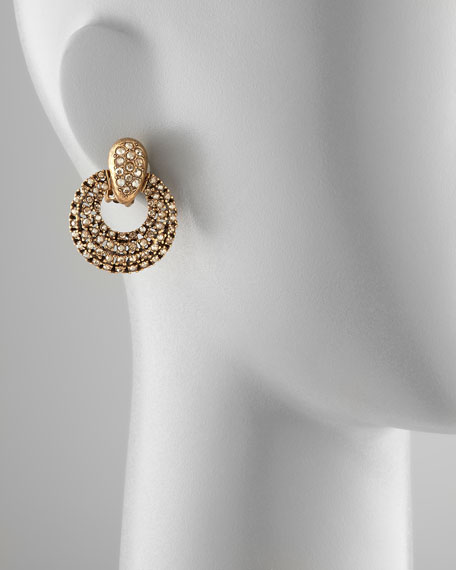Pave Door-Knocker Earrings