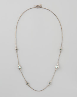 "Armenta New World Opal Diamond Necklace, 20""L"