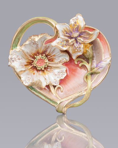 Margaux Floral Heart Trinket Tray