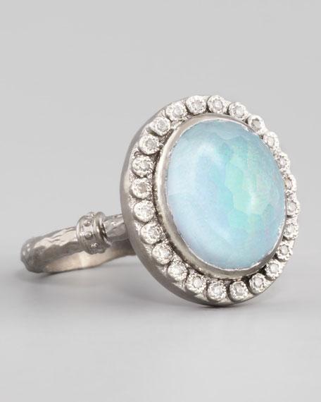 New World Opal & Blue Topaz Ring