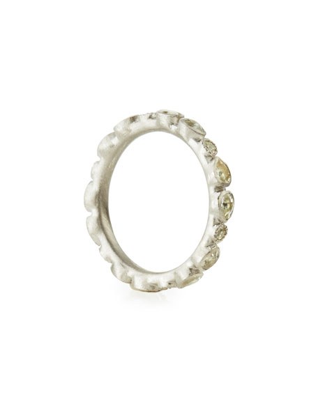 New World Scattered Sapphire & White Diamond Band Ring