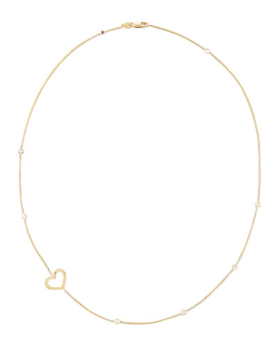 Roberto Coin 18k Yellow Gold Side-Heart Necklace