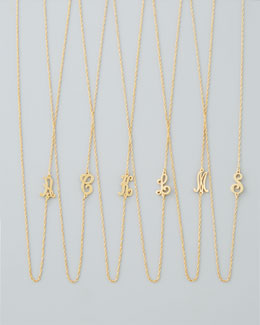 Jennifer Zeuner 18k Gold Vermeil Mini Initial Necklace