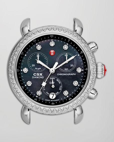 CSX 36 Diamond-Bezel Chronograph Head, Black