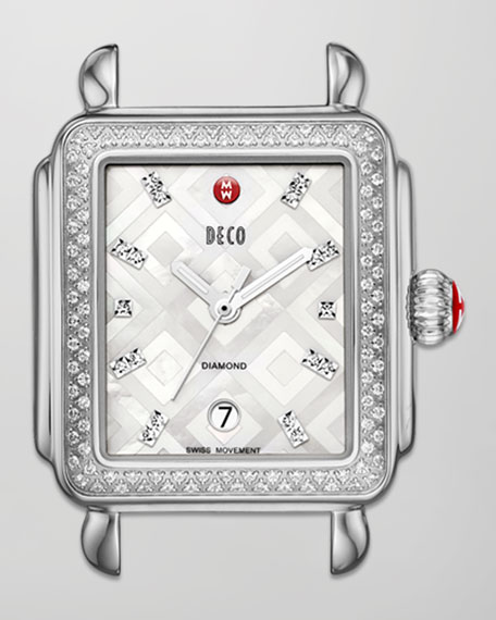 Deco Mosaic Geometric Diamond Watch Head
