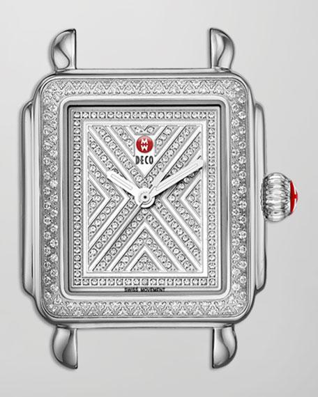 Limited Edition Deco Diamond-Dial Watch Head, Steel