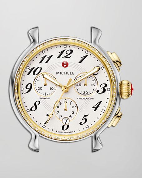 Fluette Diamond Chronograph Watch Head, Two-Tone