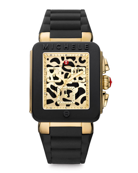 Park Jelly Bean Watch, Black/Cheetah