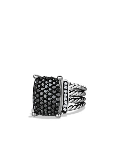 David Yurman Wheaton Ring with Black and White Diamonds
