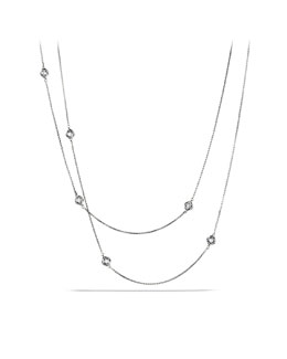 "David Yurman Infinity Necklace, Diamonds, 36""L"