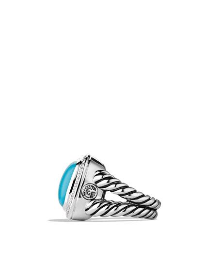 Albion Ring with Turquoise and Diamonds