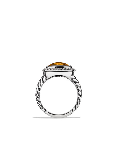 Albion Ring with Citrine and Diamonds
