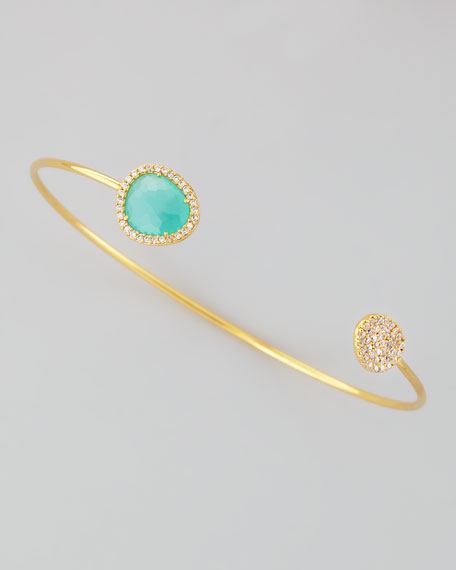 Mint Stone Pinch Bracelet