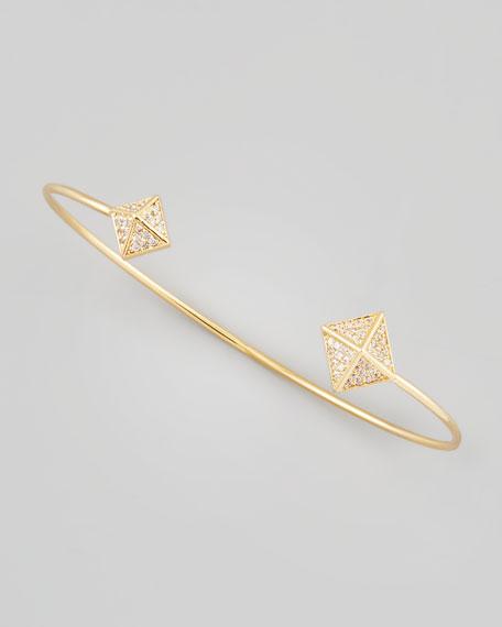 Pave Pyramid Pinch Bracelet